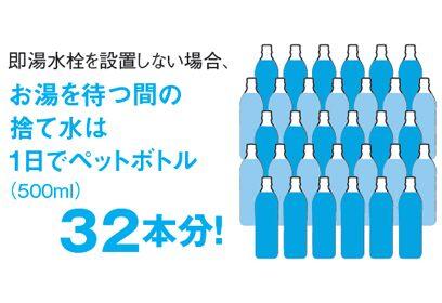 捨て水がなく経済的